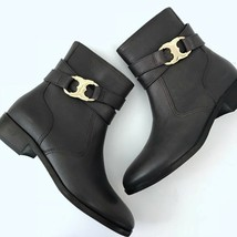 9ad719958bb1 Tory Burch 6.5 Gemini Link Ankle Boots Bootie Coconut Brown Leather 6 1 .