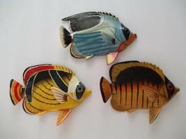 Set 3 Tropical Fish Wall PlaqueTiki Bar Beach Pool Nautical Decor TFW3Q - $25.99