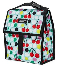 PackIt Freezable Lunch Bag with Zip Closure, Cherry Dots - $17.46 CAD