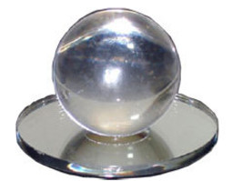 Clear Acrylic Large Ball Stick-On Mirror Knob - $20.00