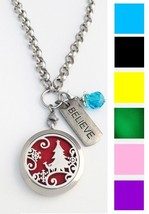 Christmas Aromatherapy Essential Oils Stainless Steel Necklace Locket Ro... - $19.79