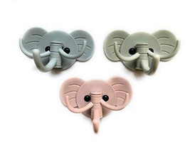 Key Holder On Wall; Decorative Elephant Key Ring Hooks Hangers for Wall, Self Ad