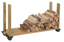 Firewood Rack System Wood Log Holder Storage Carrier Fireplace Outdoor 2... - $21.29