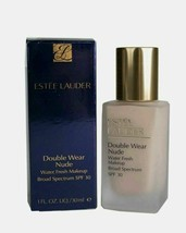 Estee Lauder Double Wear Nude Water Fresh Foundation Makeup SPF30 1C1 Co... - $37.39