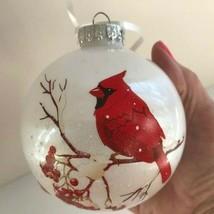 Redbird Cardinal Christmas Ornament New Shatterproof Dad Mom Heaven Holi... - $15.51