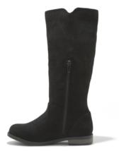 Chat & Jack Filles Noir Helena Faux Daim mi-Mollet Équitation Fashion Boots Sz image 2