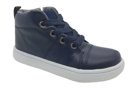 Boys Shoes Grosby Jake JNR Navy Zip/Lace Up High Top Shoe Size 9-12  - $22.26
