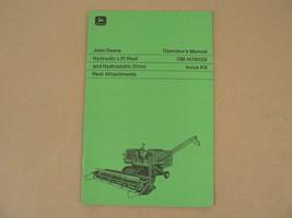 John Deere Hydraulic Lift Reel Hydrostatic Drive Operators Manual OM-H78... - $25.00