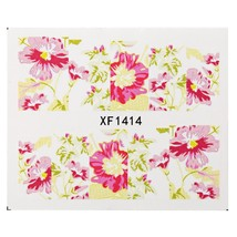 1 Sheet Flower Nail Decals Art Water Transfer(XF1414) - $6.31