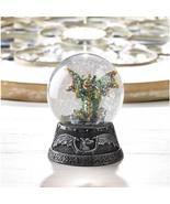 GREEN DRAGON MINI Water Globe Small Glitterdome Medieval Fantasy - $17.73