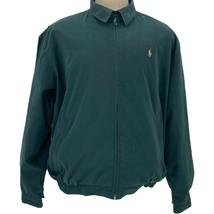 VTG Polo Ralph Lauren Mens Green Lined Harrington Zip Up Jacket Size Large  - $64.34