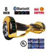 "Chrome Gold Lambo 8"" Bluetooth Self Balancing Wheel Electric Scooter UL2272 - $279.00"
