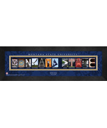 Personalized Montana State University Campus Letter Art Framed Print - $39.95