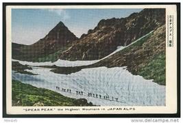 Japan Spear Peak the Highest Mountain in Nippon Alps Fukuda Postcard - $4.99