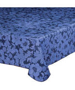 "Bordeaux Floral Vinyl Table Cover-60"" x 120-Wedgewood - $28.73"
