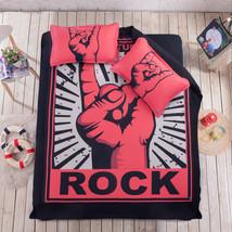 3D Rock Pattern Bed Pillowcases Quilt Duvet Cover Set Single Queen King Size AU - $90.04+