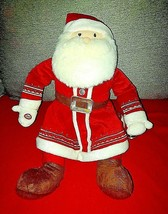 "Polar Express 18"" Talking Santa Claus Plush Hallmark Christmas Tested W Bell - $14.80"