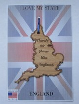 There's No Place Like England Wood Ornament Made in the USA - $5.95