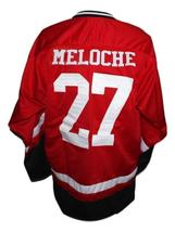 Gilles Meloche #27 Cleveland Barons Custom Retro Hockey Jersey New Red Any Size image 2