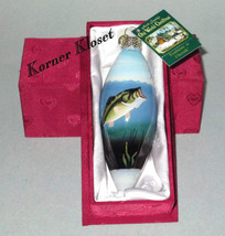 Merck Family's Old World Christmas Ornament - Inside Art - Largemouth Bass - NIB - $20.27