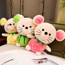 Kawaii Plush Doll Toys Cute Fruit Strawberry Pineapple Watermelon Mouse ... - $20.10