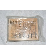 NIP CLUB SCRAP HOME WARMS THE HEART WOOD MOUNTED RUBBER STAMP   - $7.99