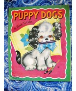 USED 1953 VINTAGE PUPPY DOGS COLORING BOOK: SOME MINOR PRIOR USE - $5.99