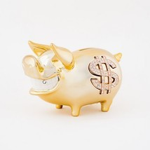 Biggy Piggy Money Bank Goldplated Ceramic - $62.79
