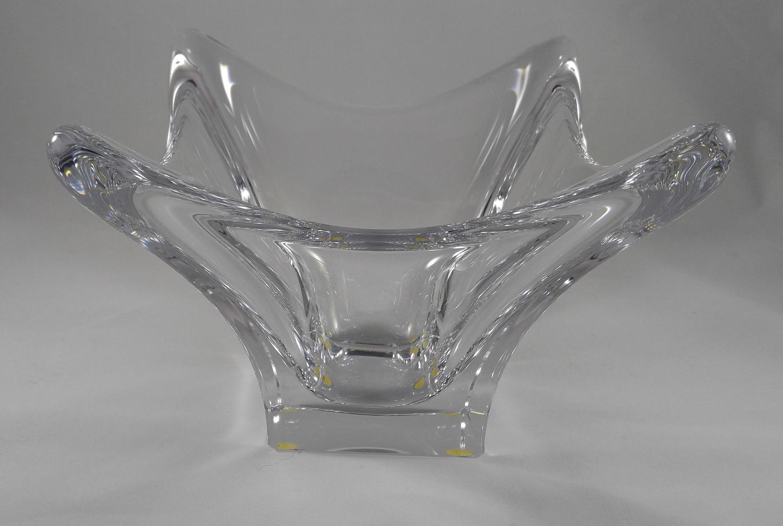 "Vintage ""CoFrac Art Verrier France"" Art Glass Centerpiece Crystal Bowl - Signed"