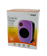 Soleil Personal Electric Ceramic Heater PURPLE 250 watts MH-01P Small - $13.99