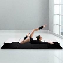 "Portable Exercise Mat Gymnastics 4' X 10' 2"" Folding Gym Yoga Black & White - $115.99"