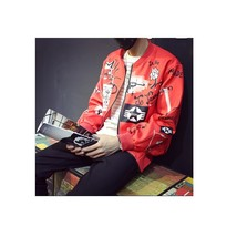 Bigbang TaeYang Red collar baseball jersey Sweater loose coat men and wo... - $61.20