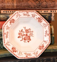 "INDEPENDENCE IRONSTONE JAPAN BITTERSWEET RED WHITE BOWL DISH 5.75"" W OCT... - $14.99"