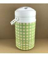 Vintage Igloo Green Plaid Wrap 1/2 Gallon Water Beverage Cooler Made USA - $11.84