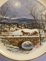 """Avon 1979 Christmas Plate """"Dashing Through the Snow"""" with Original Box image 2"""
