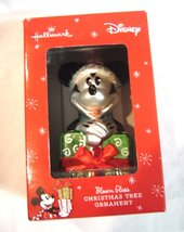 Disney Mickey Mouse w/Present Blown Glass Hallmark Christmas Tree Orname... - $19.99