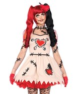 Leg Avenue Voodoo Cutie Dress Heart Adult Womens Halloween Costume 85434 - $50.03