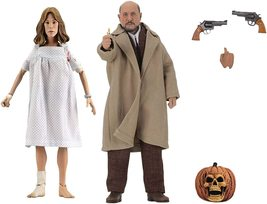 """NECA Halloween 2 (1981):Dr Loomis & Laurie Strode 8""""Clothed Action Figur... - $98.76"""