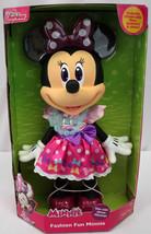 "Disney Junior Minnie Mouse 14"" Large Doll Fashion Fun Shoes Bow Dress NE... - $25.60"