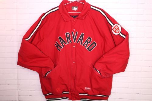 Primary image for Stall & Dean Harvard Crimson Ivy League College Spell Out Red Jacket Coat Sz 3XL