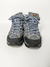 Merrell Mid Vibram Continuum Women Hiking Trail Boots Shoes Grey Periwinkle Sz 6 - $43.15