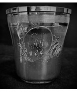 Antique 1826 french sterling silver cup julep goblet minerva head Roussel - $281.60