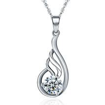 Fashion Hollow Waterdrop CZ 925 Sterling Silver Pendant - $8.24