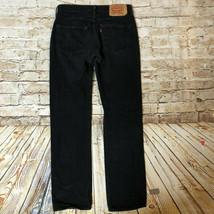 Levi's 501 Jeans Black Button Fly Straight Leg Men's W32 X L33 - $24.75