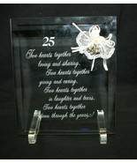 """25th Anniversary Poem on 6""""x7"""" Glass with Acrylic Stand - $25.73"""