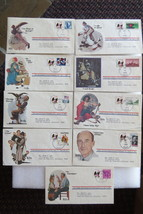 Norman Rockwell cachets - US Stamp covers, 1978-80, VG+; nine covers - $20.99