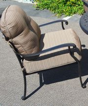 Nassau patio furniture set outdoor fire pit propane table 5 piece dining Bronze image 5
