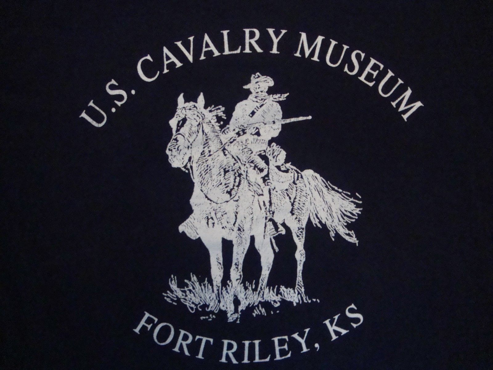 Primary image for Vintage U.S. Cavalry Museum Fort Riley Kansas Blue T Shirt Size M