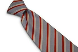 Frederick Thomas Designer Mens Tie - Light Pastel Blue, Red, White - Str... - $15.79