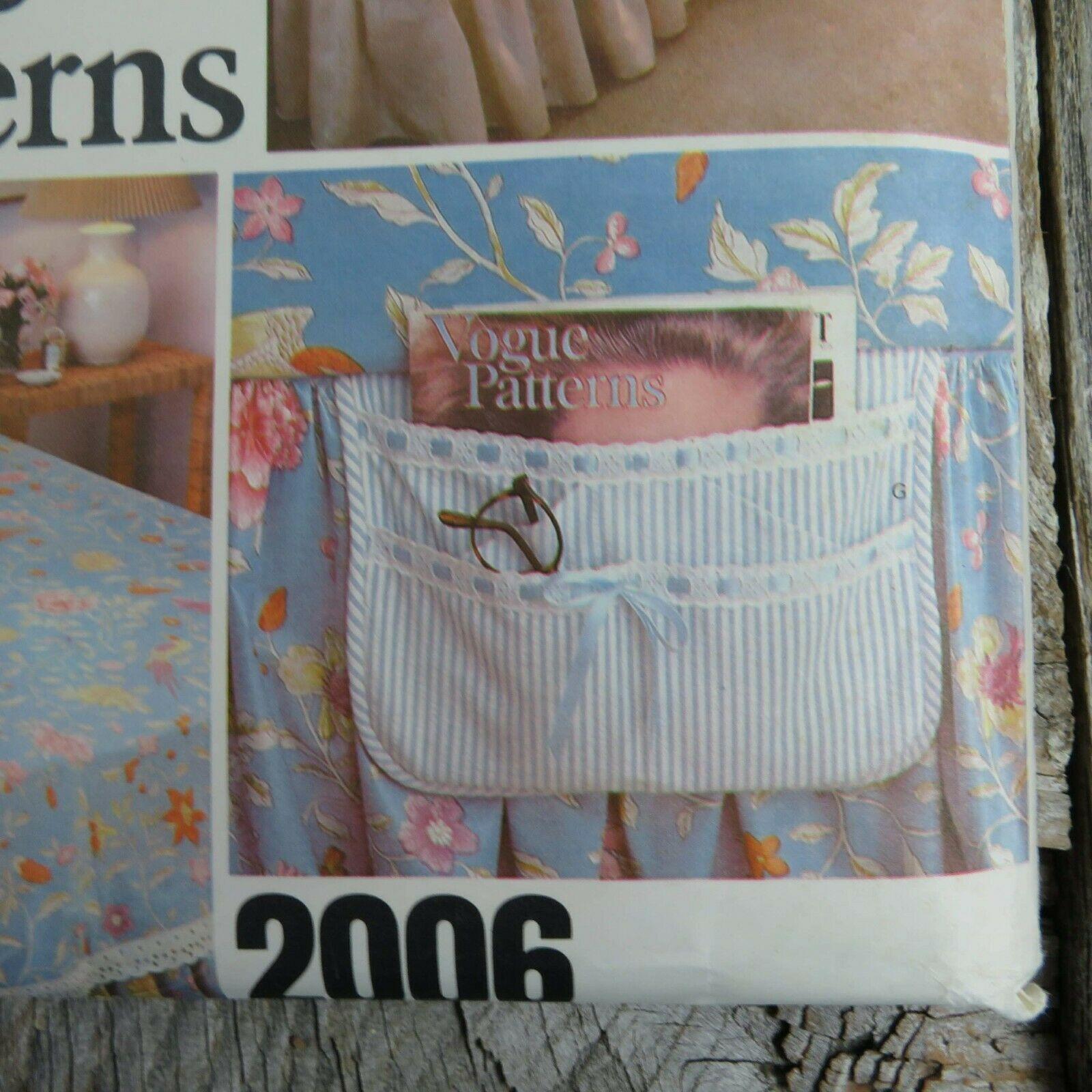 Vintage Vogue Bedspread Linen Sewing Pattern Bedroom Sham Pillow Bed Covers image 6